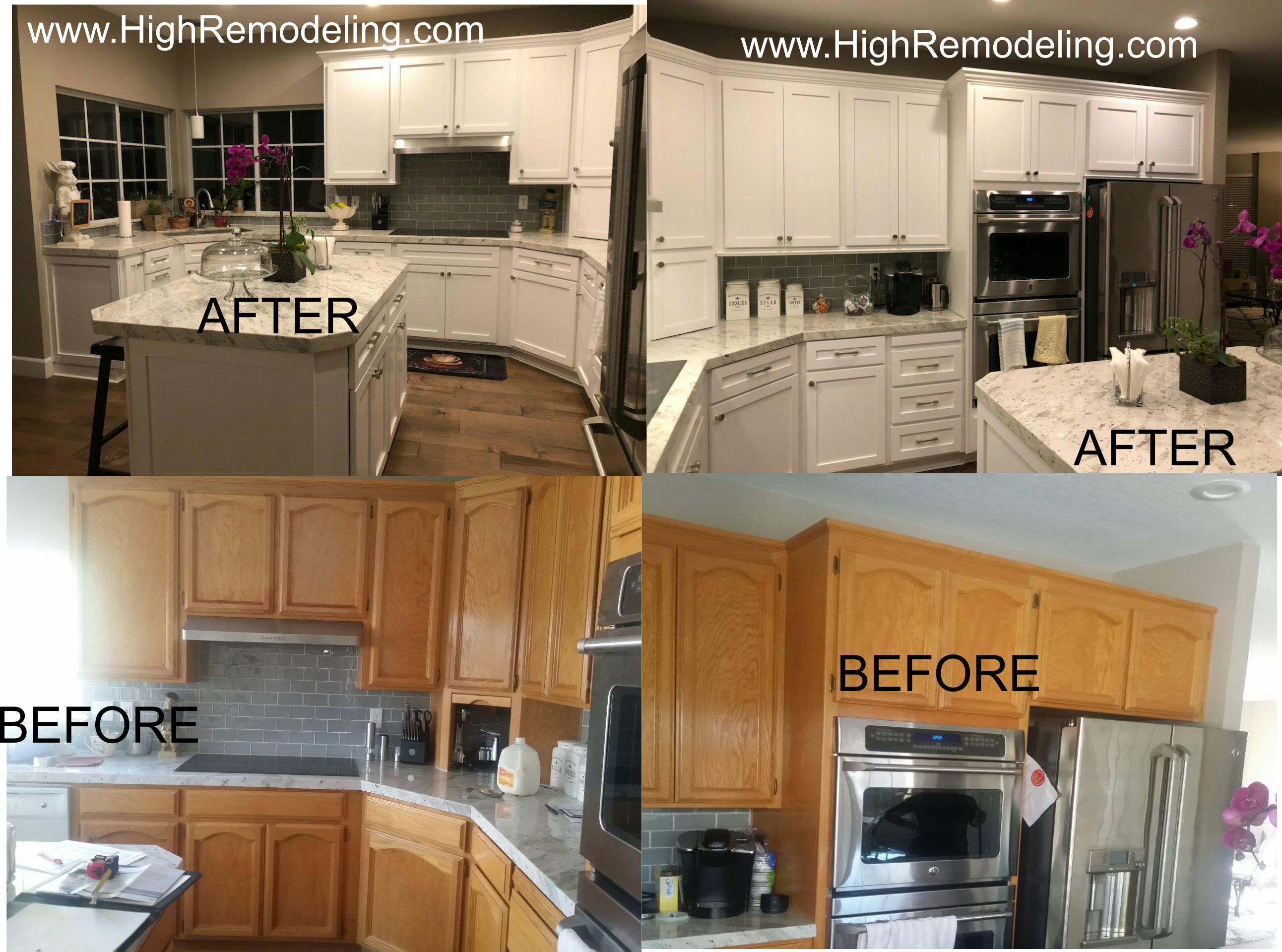 High Tech Services Remodeling Cabinet Refacing Cabinet